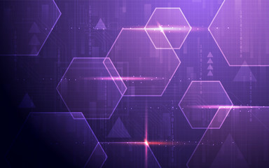 Ultra HD Abstract Sci Fi Technology Wallpaper Suitable for Application, Desktop, Banner Background, Print Backdrop and Other Print and Digital Work Related