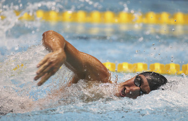 Worsley swims to a win in Men's 200m freestyle at Canadian Olympic swimming trials in Montreal
