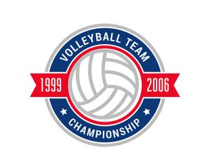 Modern Volleyball Logo - Volleyball Championship Badge