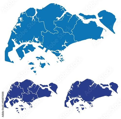 Map of Singapore\