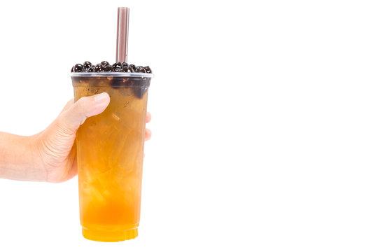 Boba / Bubble tea isolated on white background