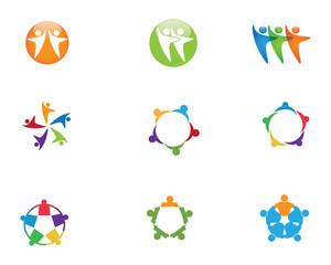 Success people logo template