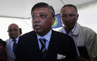 Madagascar's presidential candidate Jean-Louis of Avana party leaves after attending a post-election news conference by the SADC in Madagascar's capital Antananarivo
