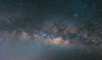 Close-up of Milky way galaxy with stars and space dust in the universe, Center of the Milky Way, Long Exposure image