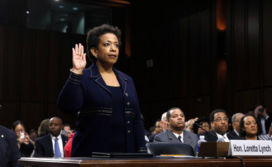 Loretta Lynch testifies on Capitol Hill in Washington