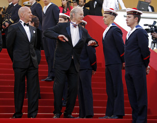 Cast members Willis and Murray arrive on the red carpet for the screening of the film Moonrise Kingdom by director Anderson in competition at the 65th Cannes Film Festival