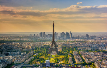 Eiffel tower ,Urban Skyline, Paris, France