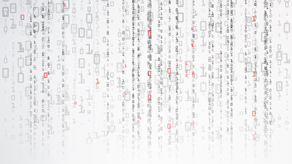 Binary Cyberspace Background. Coding Or Hacker Concept. Matrix Style. Vector Illustration