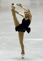 Gedevanishvili of Georgia performs during the women's short programme at the ISU Grand Prix of Figure Skating in Tokyo