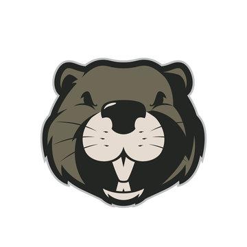 Beaver head mascot 4