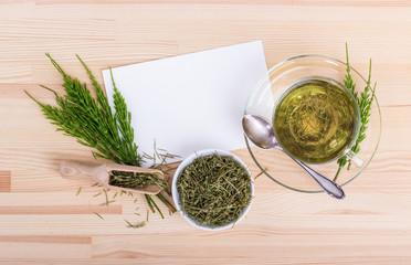 herb tea / Herbal tea made from field horsetail