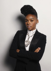 Janelle Monae, a 24-year-old singer, songwriter and producer, poses for a portrait in New York