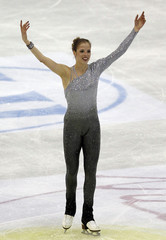 Kostner of Italy performs during the women's free skating event at the ISU World Figure Skating Championships in Nice