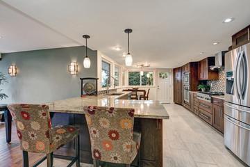 Beautiful modernized epicurean kitchen