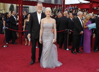 Helen Mirren and husband arrive at the 82nd Academy Awards in Hollywood