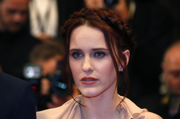 """Cast member Rachel Brosnahan arrives for the screening of the film """"Louder Than Bomb"""" in competition at the 68th Cannes Film Festival in Cannes"""