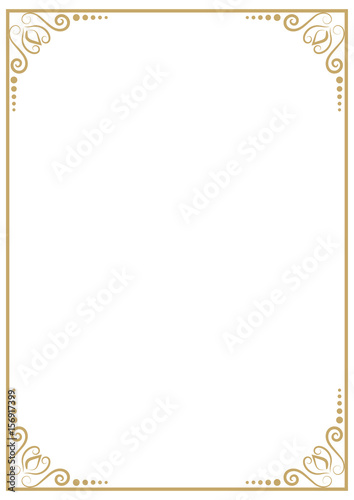 Vintage Premium A4 Size Frame Border Divider For Your Design Menu