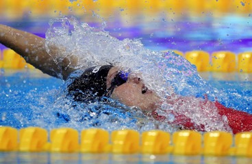 Hosszu of Hungary competes at the women's 200 m individual medley final during the 2012 European Swimming Championships in Debrecen