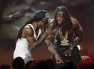 Lil Wayne and Ace Hood perform at the 2011 BET Awards in Los Angeles