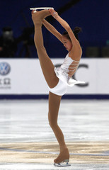 Kwak Min-jung  of South Korea skates during the women's short program at the ISU Grand Prix of Figure Skating competition in Beijing