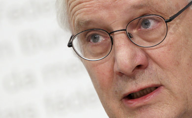 President of the ERK Kreis speaks during a news conference in Bern