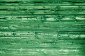 Natural green colored pine wood panels as background