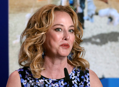 Actress Virginia Madsen attends a news conference to promote the film Burn Your Maps at TIFF