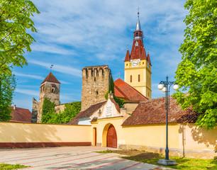 Wall Mural - Evangelical fortified church of Cristian, Transylvania, Romania.