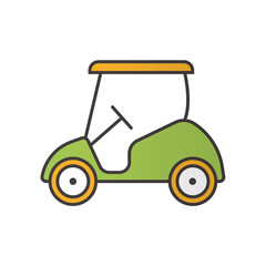 Golf cart color icon