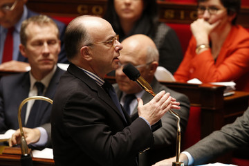 France's Budget minister Bernard Cazeneuve attends the questions to the government session at the National Assembly in Paris