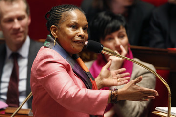 French Justice Minister Christiane Taubira speaks during the questions to the government session at the National Assembly in Paris