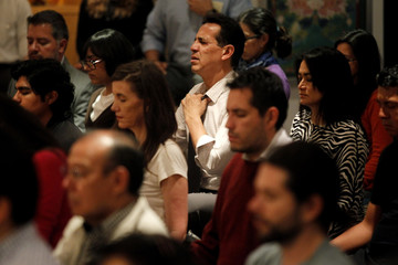 Mexican students of the Tibetan Buddhist culture meditate in Mexico City