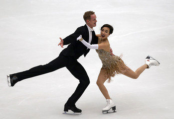 Chock and Bates of the U.S. perform at the ice dance short dance segment during the ISU Grand Prix of Figure Skating in Beijing