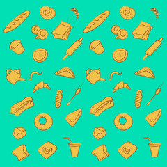Beautiful bakery texture for cafe and restaurants. Pattern background.
