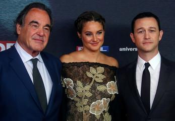 "Director Oliver Stone, actress Shailene Woodley and actor Joseph Gordon-Levitt attend the European premiere of ""Snowden"" in Munich"