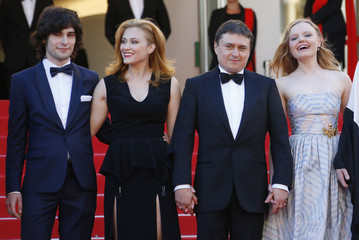 "Director Cristian Mungiu and cast members arrive for the screening of the film ""Bacalaureat"" (Graduation) in competition at the 69th Cannes Film Festival in Cannes, France"