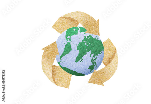 Recycle Icon Save Energy Concept Love The Earth Paper