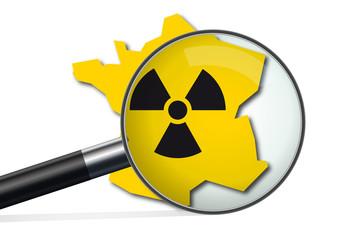 nucléaire - France - carte - enquête - concept - énergie - puissance