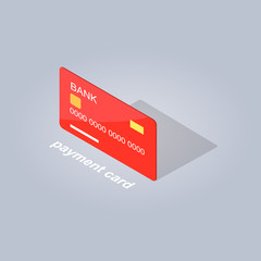 Wall Mural - Plastic Detailed Payment Card Cartoon Style Flat