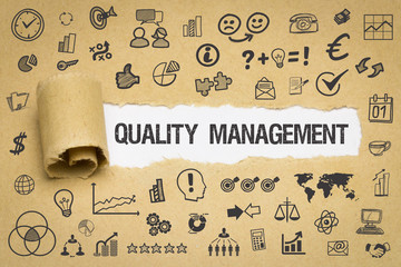 Quality Management / Papier mit Symbole