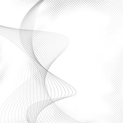Abstract halftone dotted transparent wave background
