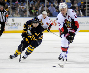 Sabres' Gerbe chases Senators' Neil in Buffalo