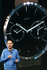 Singleton talks about Android Wear wearable computing at the Google I/O developers conference in San Francisco