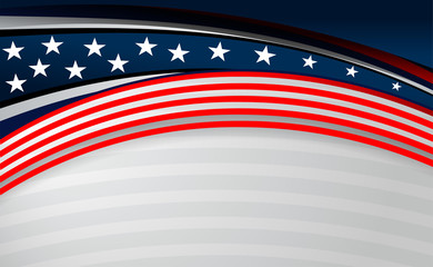 USA American flag background for Independence Day and other events, Vector illustration