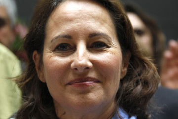Segolene Royal, French Socialist party member and Poitou-Charentes regional President, visits the Milk house in Paris
