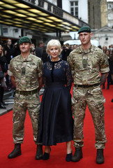 Helen Mirren poses for photos at the UK premiere of Eye in the Sky, at a cinema in central London, Britain