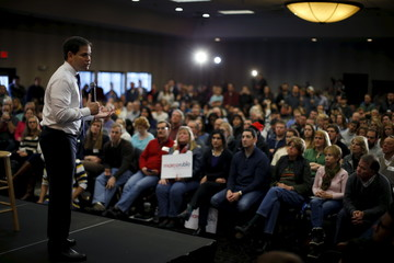 U.S. Republican presidential candidate Rubio speaks at a campaign event in Johnston