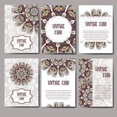 Invitation graphic card with mandala. Decorative ornament for card design: wedding, bithday, party, greeting. Vintage mandala element. Vector illustration.