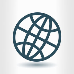 Globe icon. Flat design style Earth vector icons.