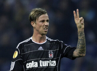 Besiktas's Guti reacts during their Europa League Group L soccer match against Porto at Dragao stadium in Porto